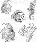 Heartfelt Creations - Under the Sea Pre-Cut Cling Mounted Stamp Set (5 stamps)