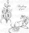 Heartfelt Creations - Botanic Orchid Bouquet Pre-Cut Cling Mounted Stamp Set (3 stamps)
