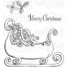 Heartfelt Creations - Ornate Sleigh Pre-Cut Cling Mounted Stamp Set (3 stamps)