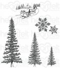 Heartfelt Creations - Snow Kissed Spruce Pre-Cut Cling Mounted Stamp Set (5 stamps)