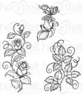 Heartfelt Creations - Rose Vines Pre-Cut Cling Mounted Stamp Set (3 stamps)