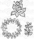 Heartfelt Creations - Rose Bouquet Pre-Cut Cling Mounted Stamp Set (3 stamps)