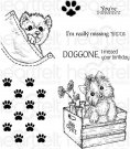 Heartfelt Creations - Pampered Pooch Pals Pre-Cut Cling Mounted Stamp Set (7 stamps)