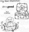 Heartfelt Creations - Pampered Pooch Pals Pre-Cut Cling Mounted Stamp Set (5 stamps)