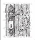 Heartfelt Creations - Floral Doorway & Latch Pre-Cut Cling Mounted Stamp