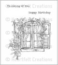 Heartfelt Creations - Raindrops on Roses Window Pre-Cut Cling Mounted Stamp Set (3 stamps)