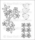 Heartfelt Creations - Bird & Blooms Pre-Cut Cling Mounted Stamp (3 stamps)