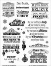 Hot Off The Press Acrylic Stamp Set - Naughty & Nice