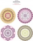 JustRite Stampers Original Stamp Set - Grandmas Doilies (8 pieces)