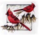 CC Designs Rubber Stamps - Winter Cardinals