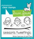 Lawn Fawn Clear Stamp Set - Winter Sparrows