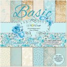 "Lemoncraft 12""x12"" Basic Paper Collection - Gossamer Blue (12 papers)"