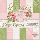 "Lemoncraft 12""x12"" Basic Paper Collection - Heart Painted (12 papers)"
