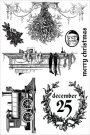 Prima Cling Stamp Set - A Victorian Christmas Merry Christmas