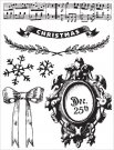 Prima Clear Stamp Set - A Victorian Christmas Framed December 25th