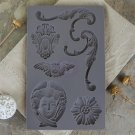 Prima Iron Orchid Designs Vintage Art Decor Mould - Baroque #1