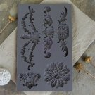 Prima Iron Orchid Designs Vintage Art Decor Mould - Baroque #3