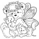 Stampavie Penny Johnson Clear Stamp - Fairy Bear
