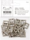 Docrafts Small Square Buckle Sliders - Wedding (25 pieces)