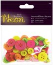 Docrafts Assorted Buttons - Neon
