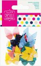Docrafts Capsule Ribbon Bows - Spots & Stripes Brights (20 bows)
