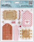 "Docrafts 6""x6"" Urban Stamps - Home For Christmas (Tags)"