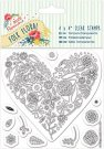 "Docrafts 4""x4"" Clear Stamps - Folk Floral (Heart)"