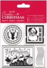 "Docrafts 4"" x 4"" Clear Stamps - Postage Marks"