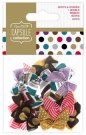 Docrafts Ribbon Bows - Capsule Spots & Stripes Jewels (20 pack)