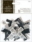 Docrafts Large Ribbon Bows - Capsule Collection Midnight Blush (12 pieces)