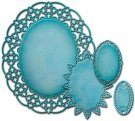 Spellbinders Nestabilities Decorative Elements Dies - Oval Regalia (4 dies)