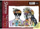 Sheena Douglass Perfect Partners Day of the Dead A6 Unmounted Rubber Stamp - Eternal Love