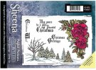 Sheena Douglass Perfect Partner Scenic Winter A5 Unmounted Rubber Stamp - Festive Greetings