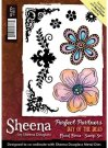 Sheena Douglass Perfect Partners Day of the Dead A6 Unmounted Rubber Stamp - Floral Fiesta