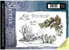 Sheena Douglass Perfect Partner Scenic Winter A5 Unmounted Rubber Stamp - A Glad New Year