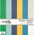 "Simple Stories 12""x12"" Simple Basics Kit - A Charmed Life (6 sheets)"