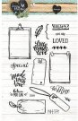 Studio Light A6 Clearstamp Set - Love & Home 126
