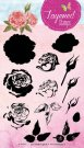 Studio Light A5 Layered Clear Stamp Set - Rose #13
