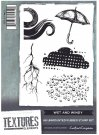 Crafters Companion Textures Elements A6 Unmounted Rubber Stamps - Wet and Windy