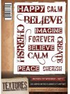 Crafters Companion Textures A6 Unmounted Stamp - Words of Wonder (Set 1)