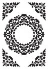 Nellies Choice Embossing Folder - Vintasia Ornament Frame