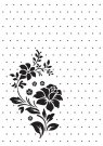 Nellies Choice Embossing Folder - Vintasia Rose Ornament