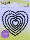 XCUT NESTING DIES - SCALLOPED HEART (5 DIES)
