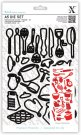 Xcut A5 Die Set - Kitchen Utensils (26 dies)