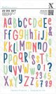 Docrafts A5 Die Set - Folk Alphabet (66 dies)
