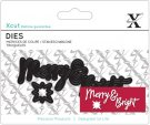 Xcut Mini Sentiment Dies - Merry & Bright (4 dies)