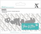 Xcut Mini Sentiment Dies - You & Me (4 dies)