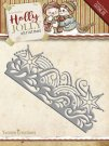 Yvonne Creations Dies - Holly Jolly Snowflake Border