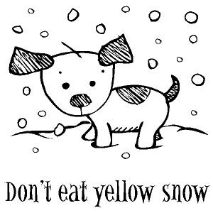 Inkadinkado Clear Stamp - Mini Don´t Eat Yellow Snow