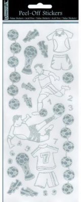 Dovecraft Peel Off Outline Sticker Silver Football